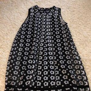 NWOT Size large black and white dress Nina Leonard